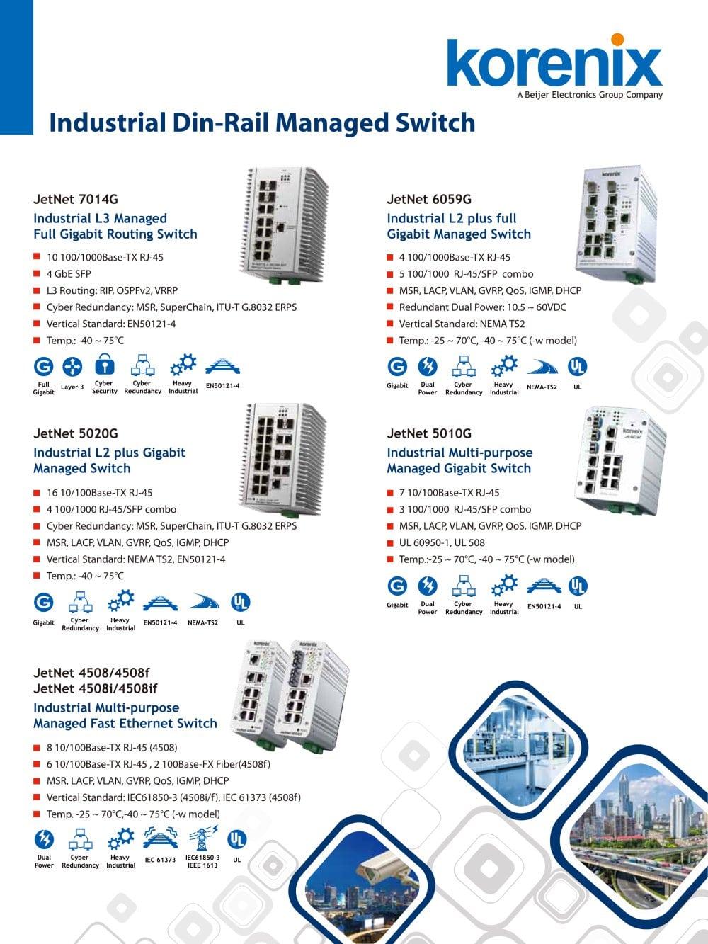 korenix industrial ethernet switch one page flyer korenix