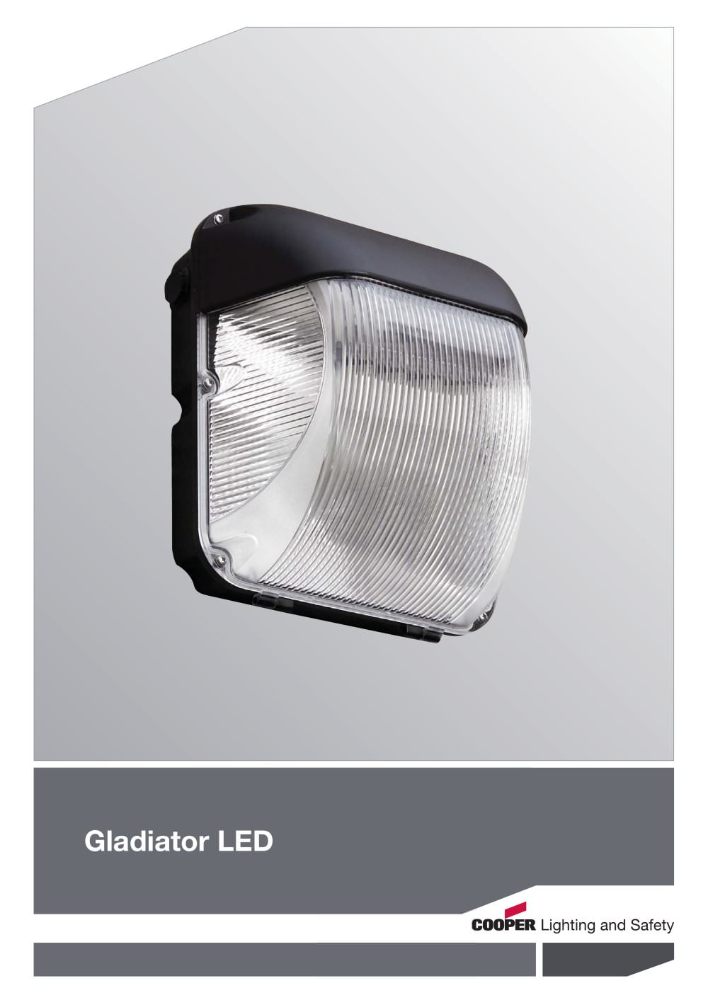 Gladiator led cooper lighting and safety pdf catalogue gladiator led 1 4 pages aloadofball