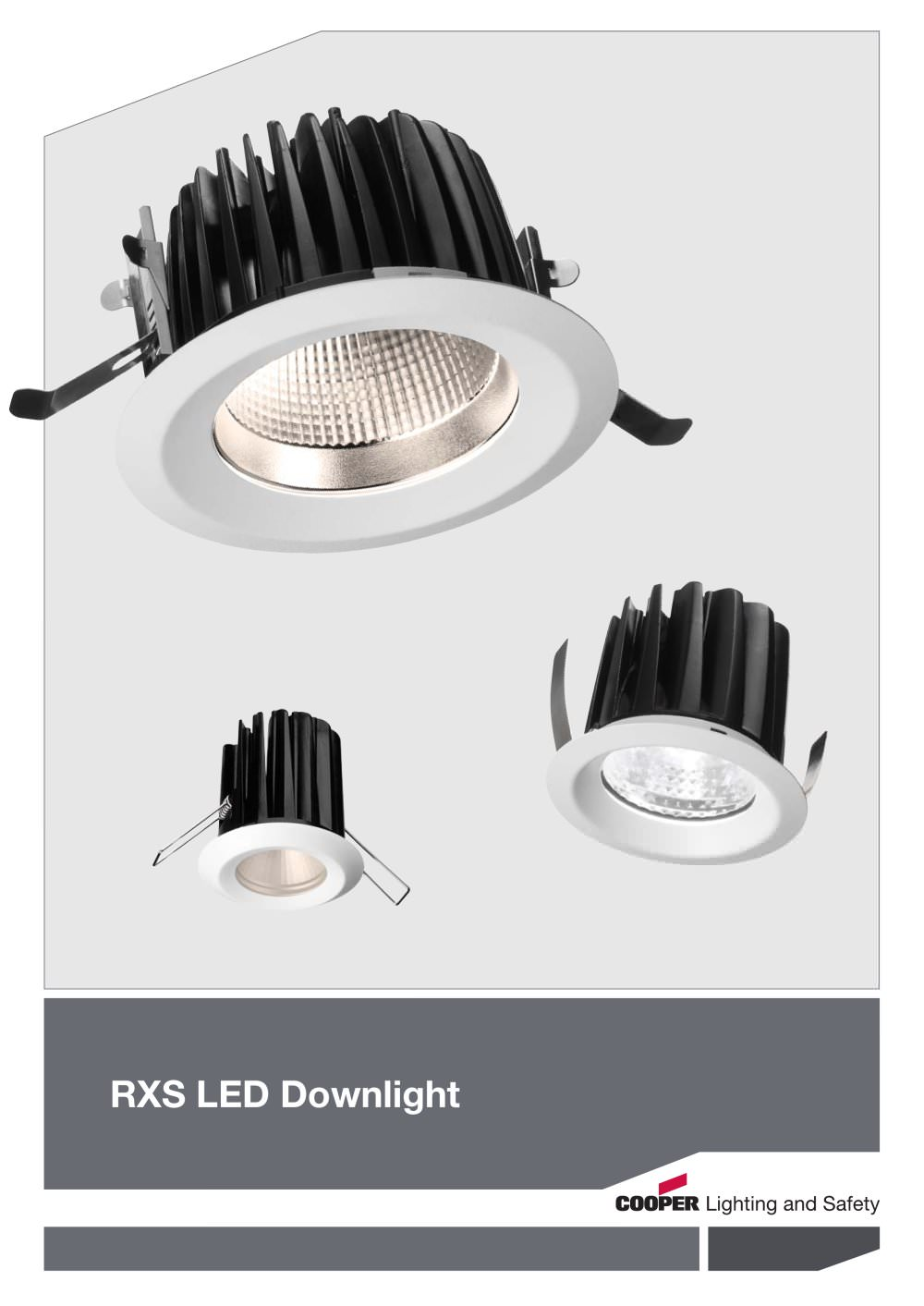 rxs led cooper lighting and safety pdf catalogue technical
