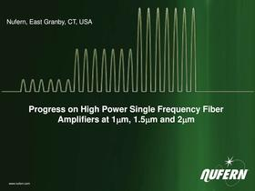 NuAmp CW Fiber Amplifiers 