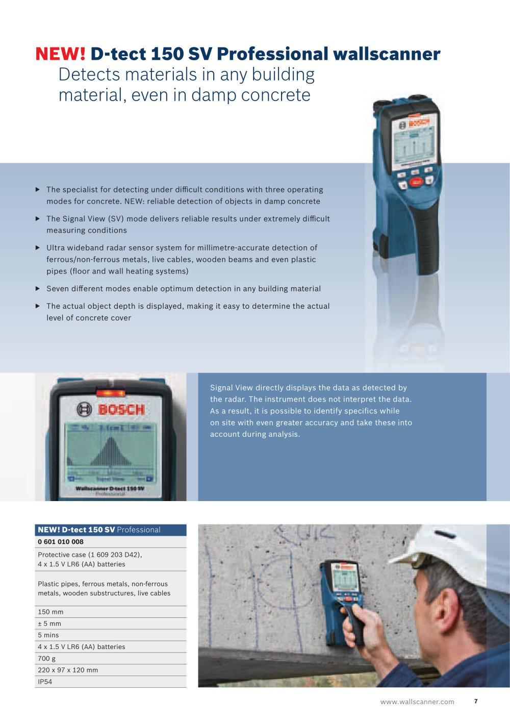 Real Bosch Professional The Detectors Production Gos 108 V Li Tool Only Kamera Borescope 1 10 Pages