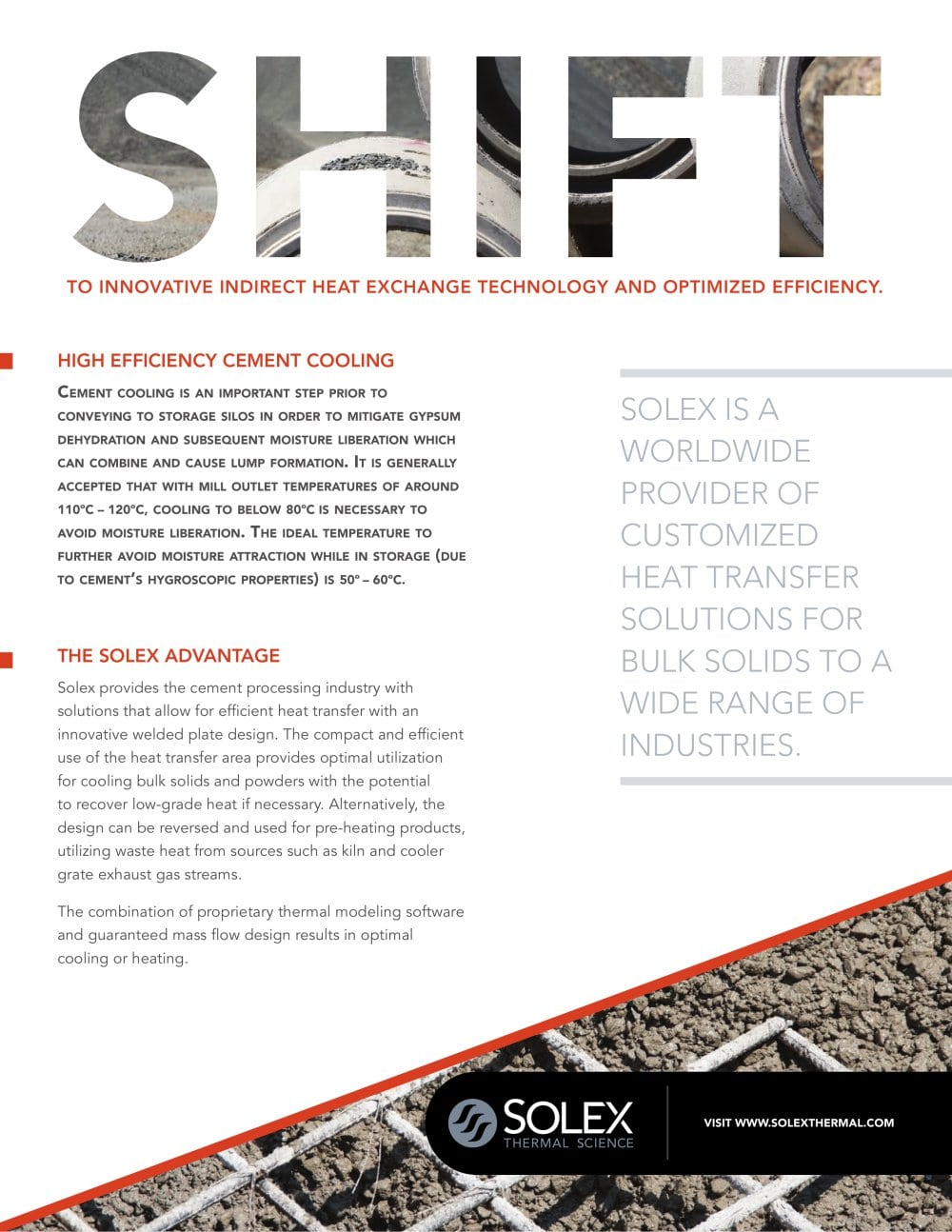 High Efficiency Cement Cooling - Solex Thermal Science Inc  - PDF
