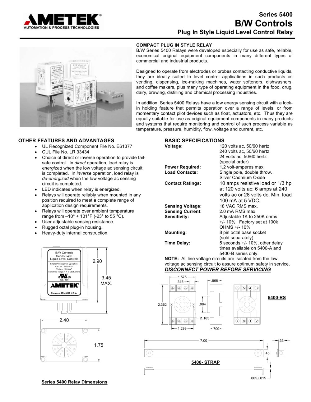 Relays 5400 Plug In Style Solid State Relay Ametek Factory Solidstaterelay Schematic 1 2 Pages