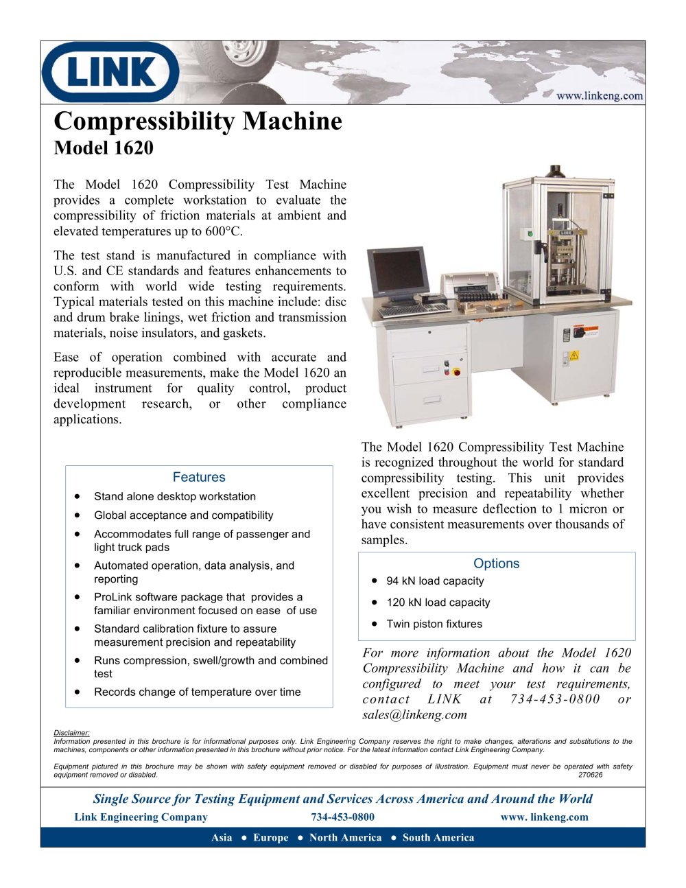 compressibility. friction material compressibility test stand - 1 / 2 pages