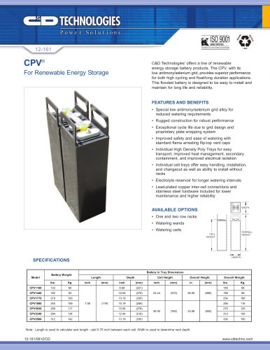 CPV ? For Renewable Energy Storage