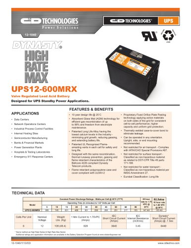 UPS High Rate Max Series