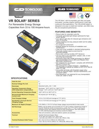 VR Solar ® / VR Solar ® True Front Access