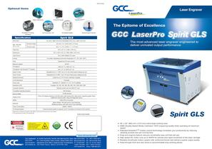 Laser engraving machine Spirit GLX