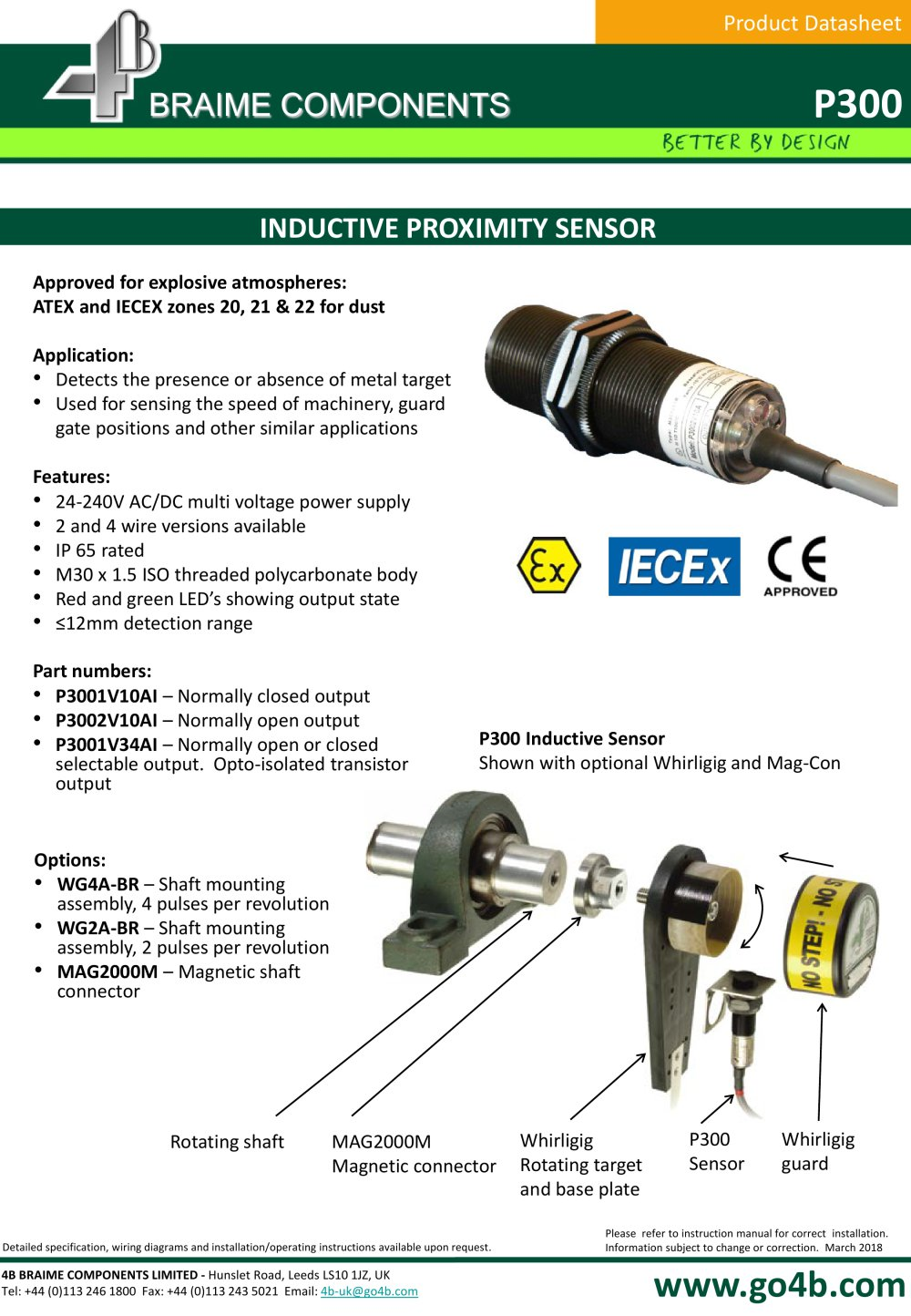P300 - Inductive Proximity Sensor - 1 / 3 Pages
