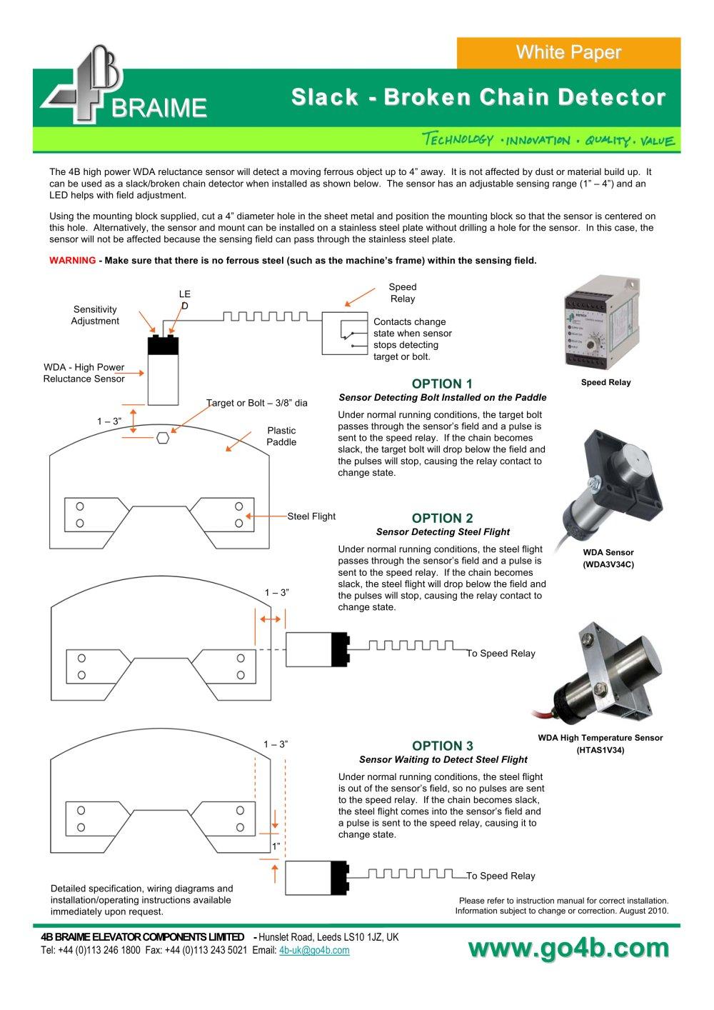 Slack Chain Detection 4b Braime Components Pdf Catalogue Conveyor Belt Wiring Diagram 1 Pages