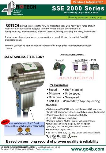 Ultra Heavy-Duty Stainless Steel Shaft Encoder