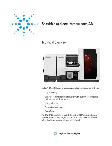 Sensitive and accurate furnace AA - Agilent Technologies - Life