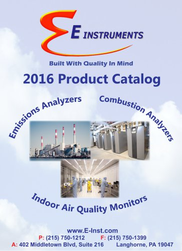 E Instruments Total Product Catalog 2016