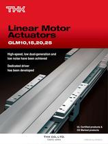 Linear Motor Actuators Model GLM10,15,25