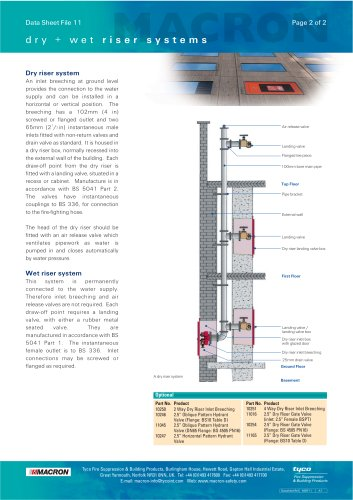 Dry & Wet Riser Systems