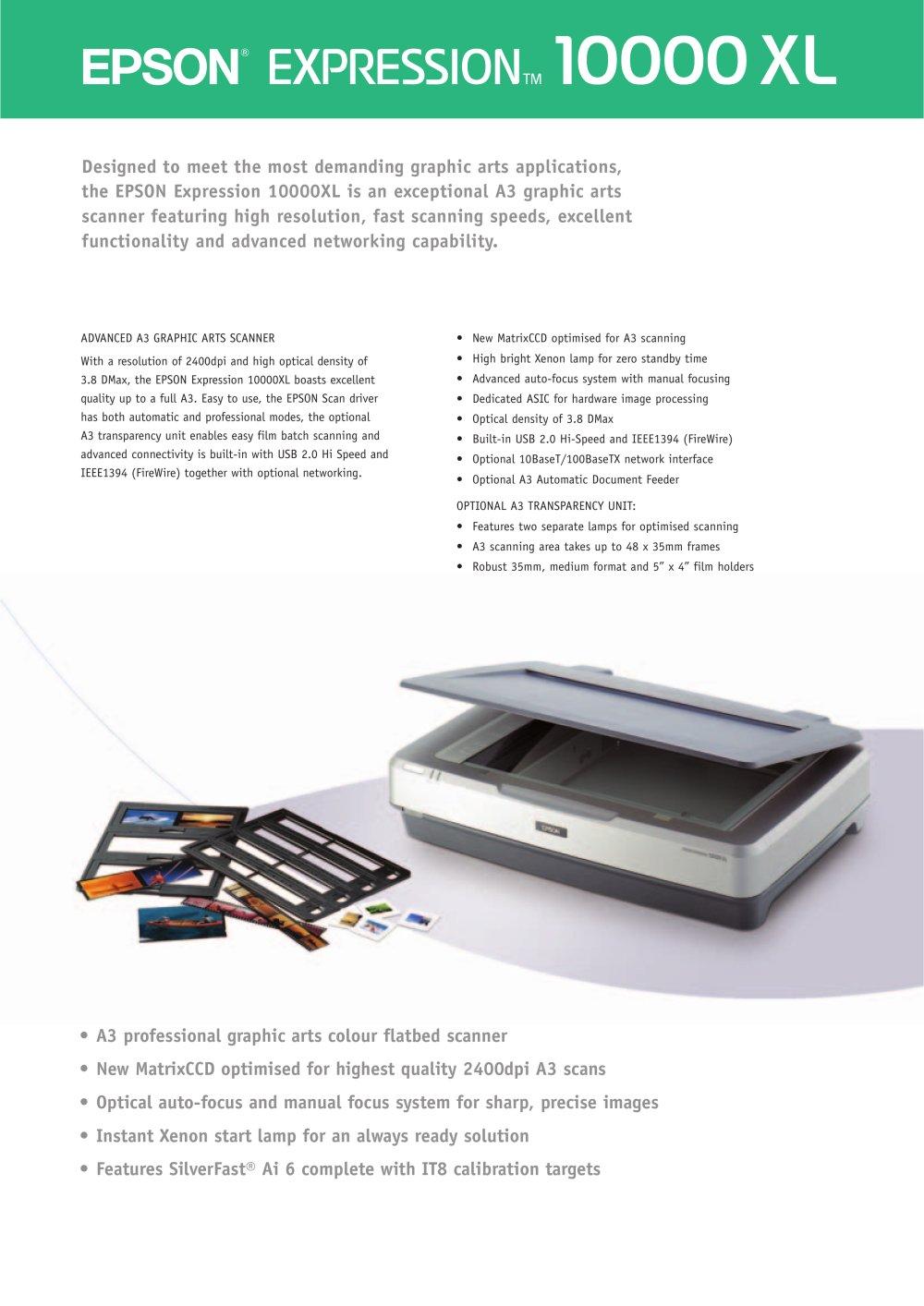 epson expression 10000xl a3 graphics scanner epson europe pdf rh pdf directindustry com manuel scanner epson v500 epson scanner manual download