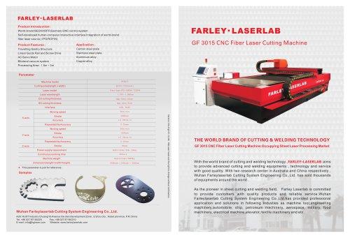 GF3015 Laser Cutting Machine