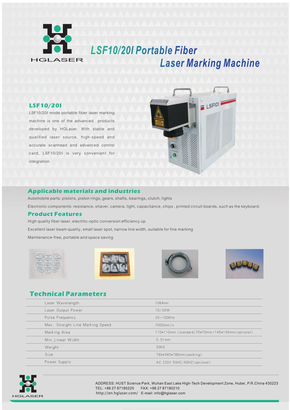 Hglaser Lsf10 20i Portable Laser Marking Machine Farley Laserlab Quality Pcb Cutting Machines For Printed Circuit Board Fpc 1 Pages Add To Mydirectindustry Favorites