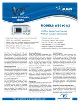 Model WS8101/2  100MHz Single/Dual Channel Arbitrary ...