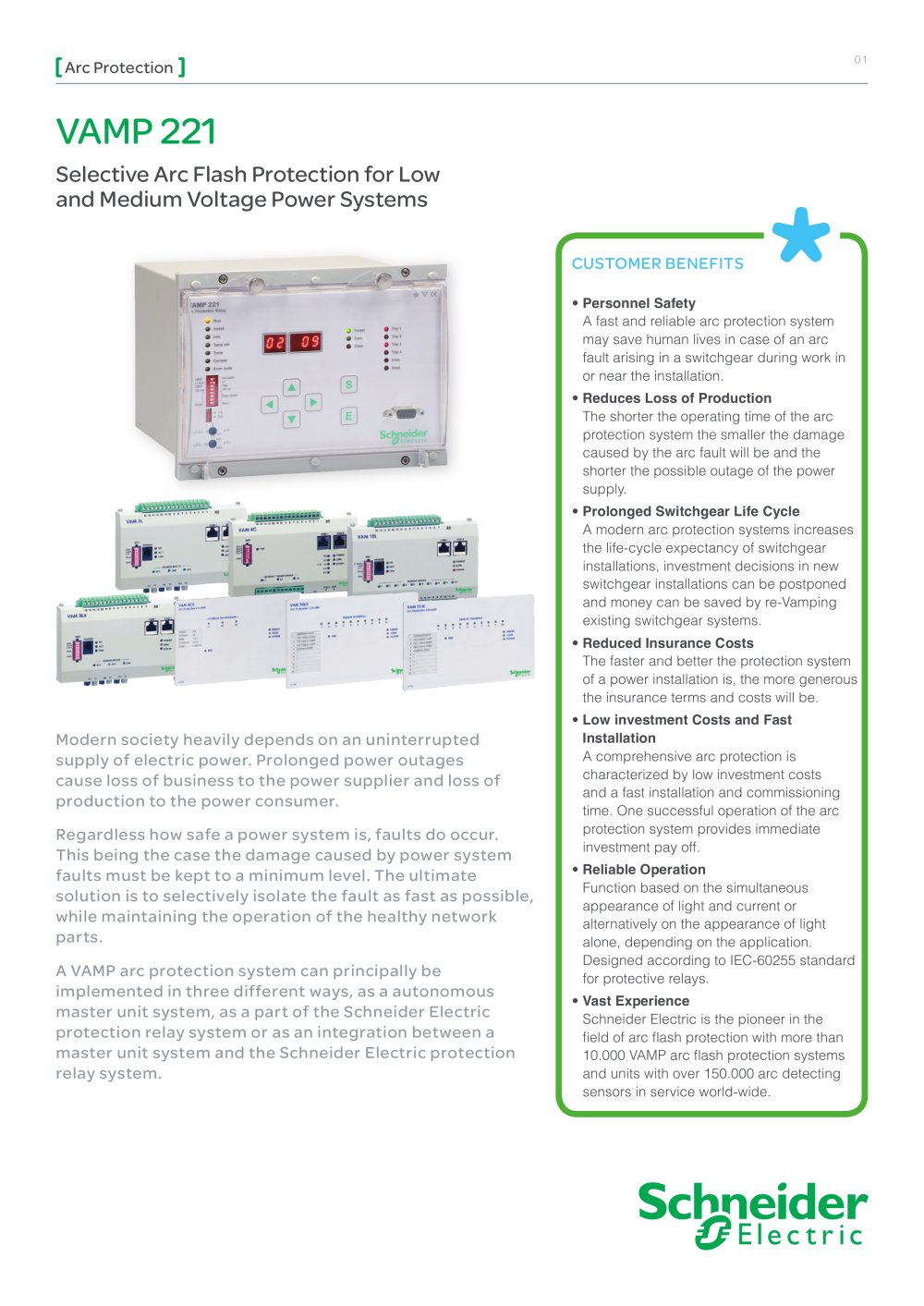 Vamp 221 Pdf Catalogs Technical Documentation Brochure Schneider Electric Relay 1 16 Pages