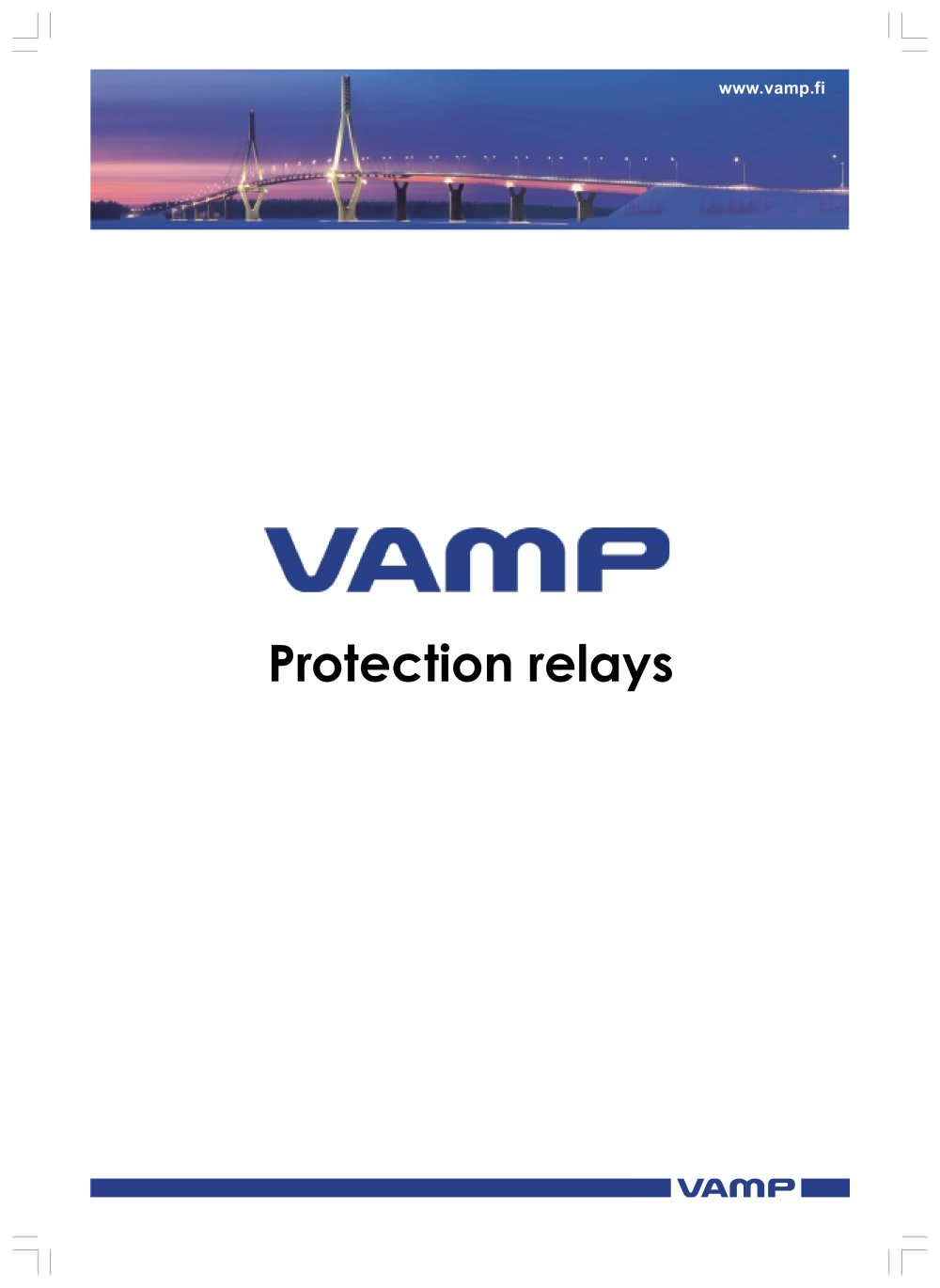 Vamp Protection Relays Vamp PDF Catalogue Technical - Basic functions of a relay