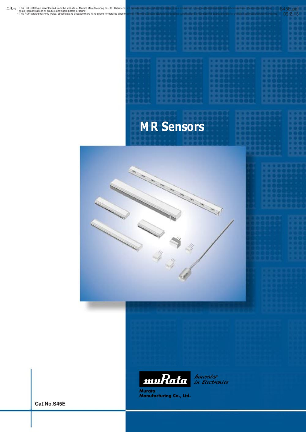 MR Sensors (Magnetic Pattern Recognition Sensors/Rotary Sensors ...