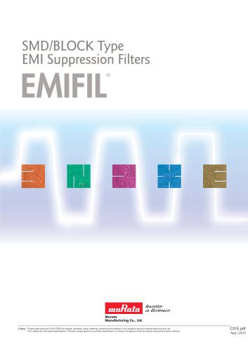 "SMD/BLOCK Type EMI Suppression Filters ""EMIFIL®"""