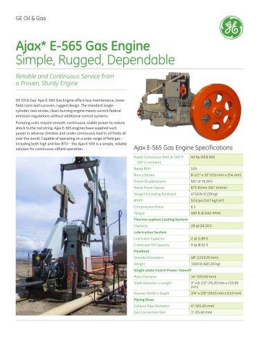 Ajax? E-565 Gas Engine - GE Gas Turbines - PDF Catalogs | Technical