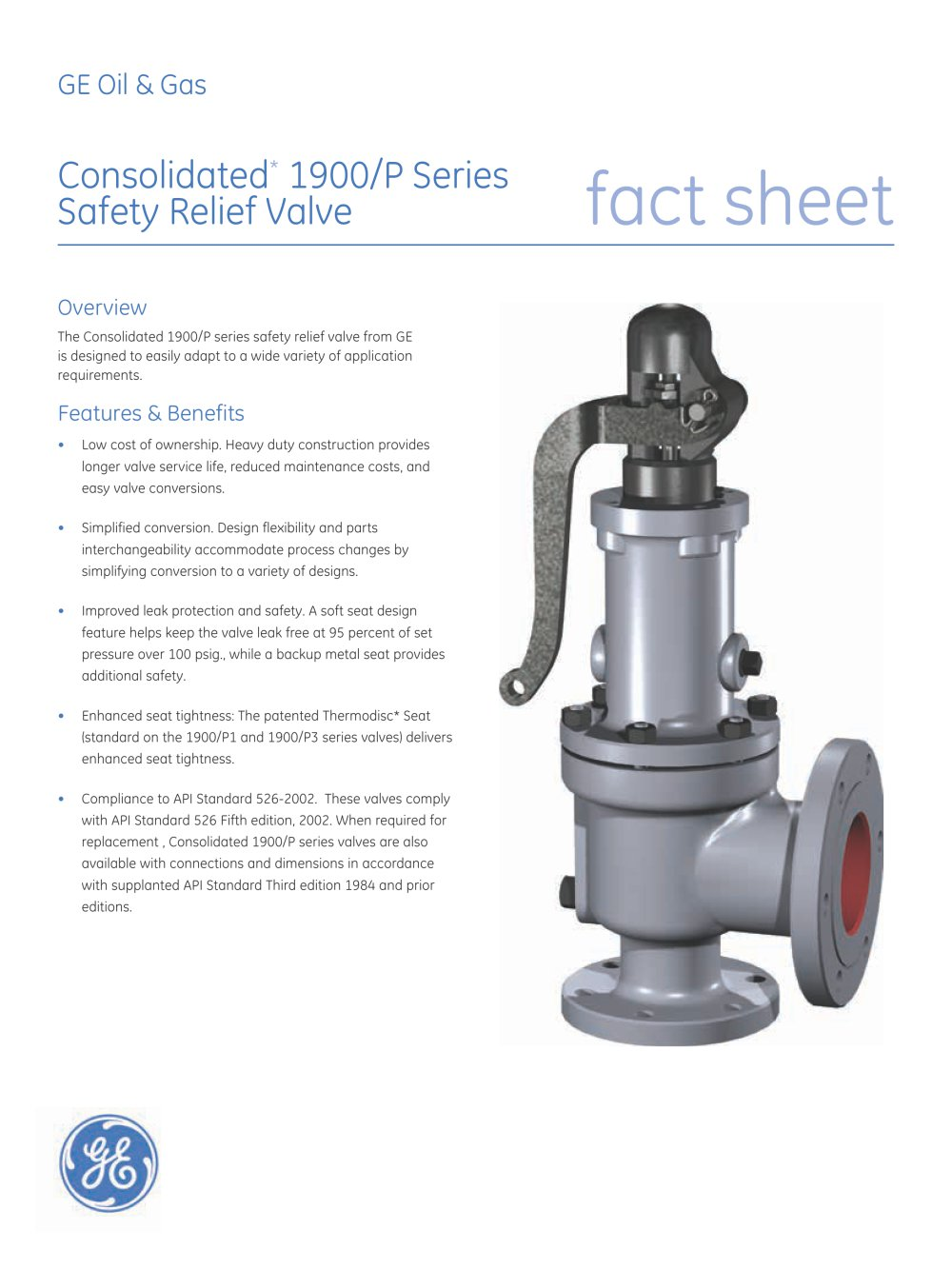 Consolidated Type 1900 P Safety Relief Valve 1 2 Pages