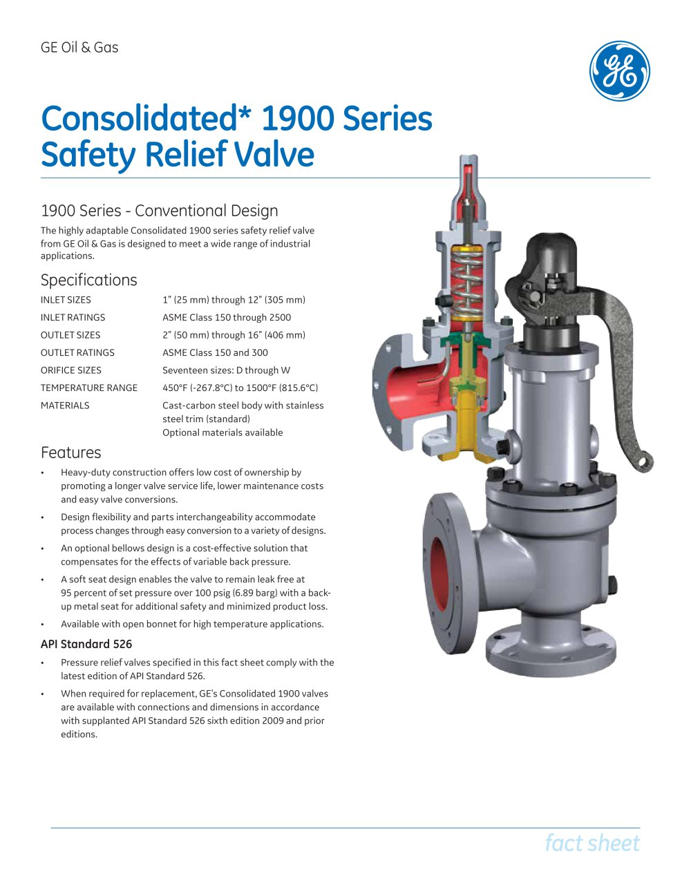 Consolidated Type 1900 Safety Relief Valve Universal Media 1 4 Pages