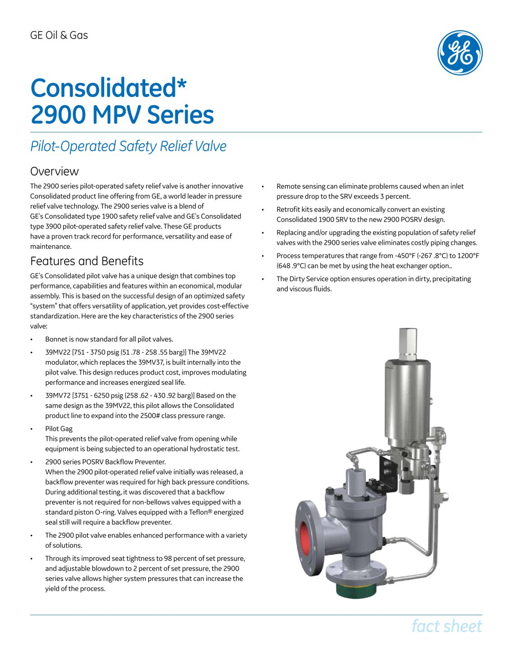 Consolidated Type 2900 Mpv Modular Pilot Operated Safety Relief Valve 1 4 Pages