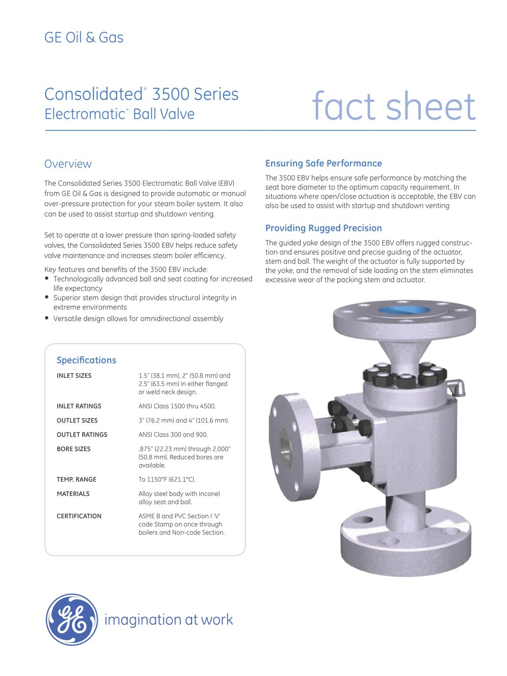 Consolidated Type 3500 Electromatic Ball Valve 1 4 Pages