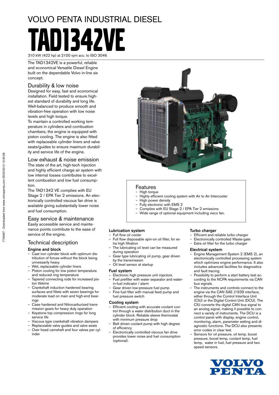 tad1342ve volvo penta pdf catalogue technical documentation rh pdf directindustry com