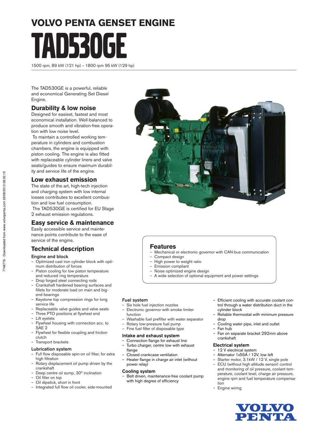 Tad530ge Volvo Penta Pdf Catalogs Technical Documentation Electrical Relay Selection 1 2 Pages