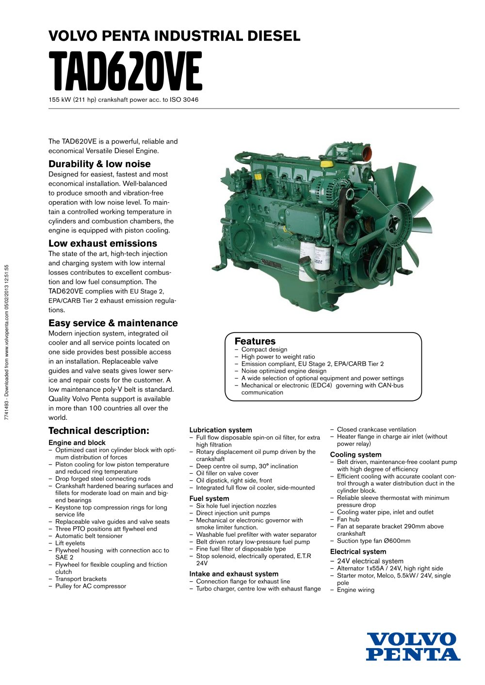 Tad620ve Volvo Penta Pdf Catalogue Technical Documentation Boat Fuel Filter Location 1 2 Pages