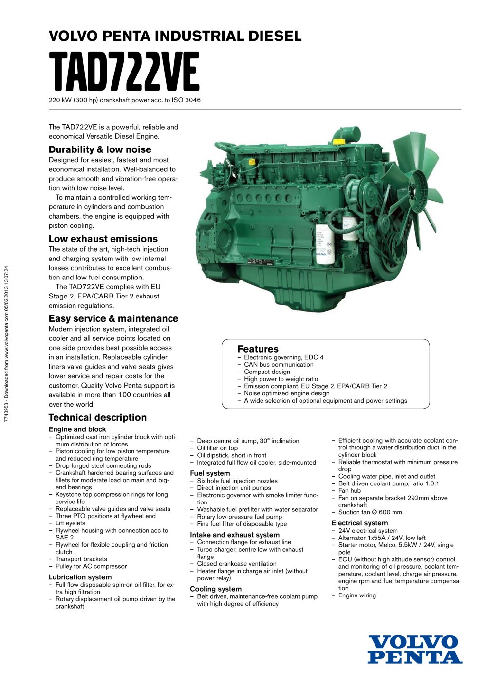 Tad722ve Volvo Penta Pdf Catalogue Technical Documentation Boat Fuel Filter Location 1 2 Pages