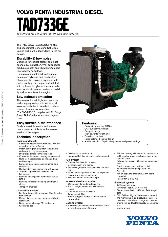tad733ge volvo penta pdf catalogue technical documentation rh pdf directindustry com
