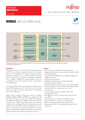 WiMAX 802.16-2004 SoC fact sheet