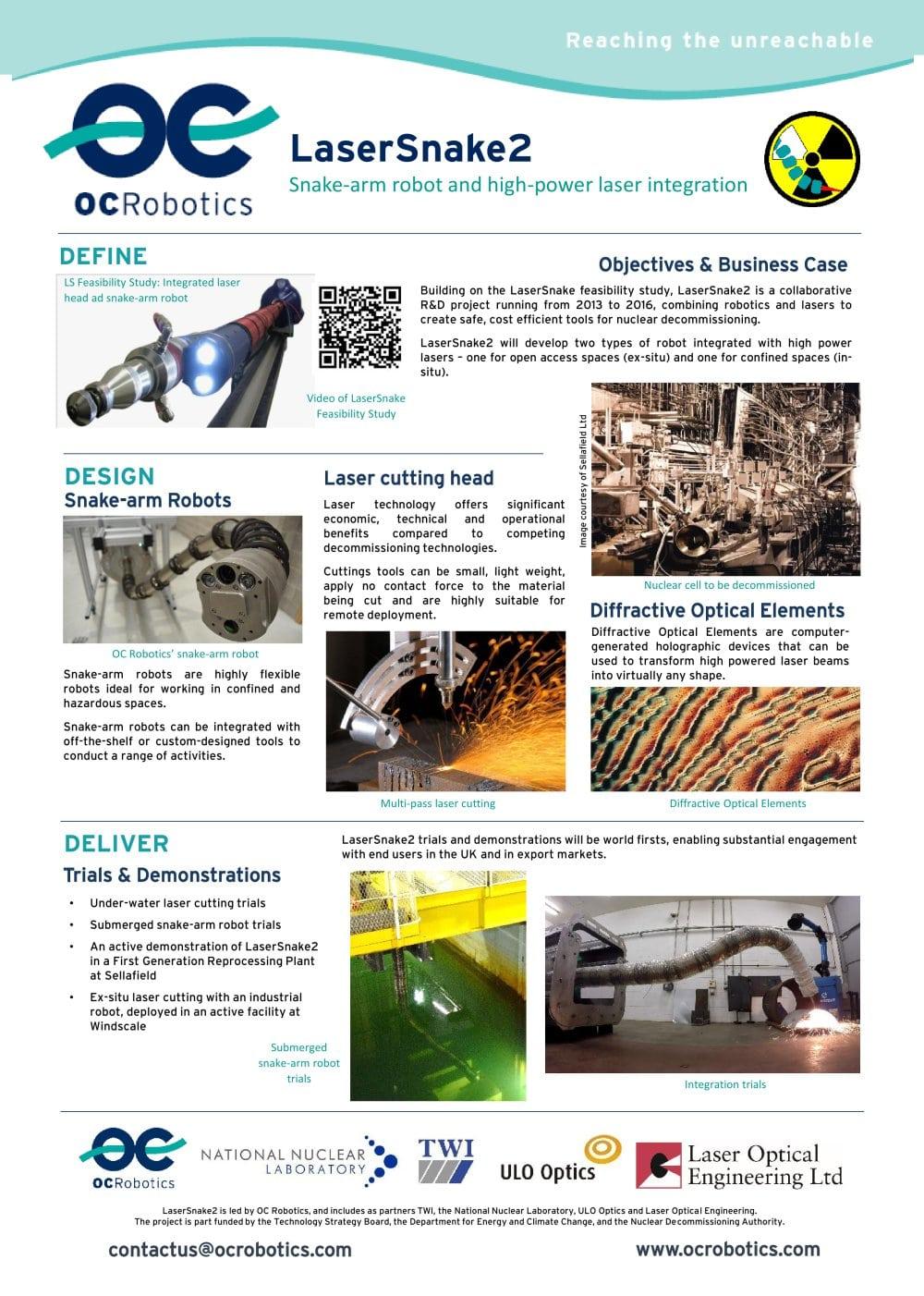 Lasersnake2 Oc Robotics Pdf Catalogue Technical Documentation