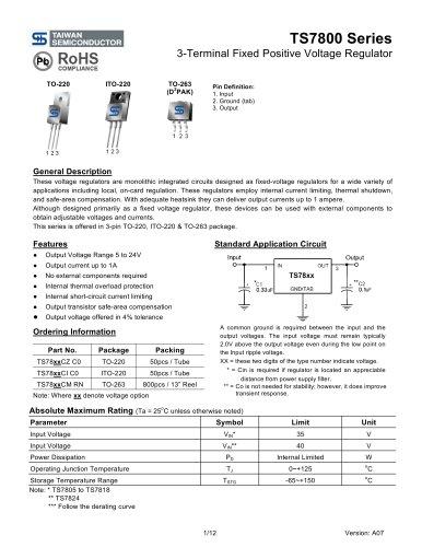 3-Terminal Fixed Positive Voltage Regulator - Taiwan