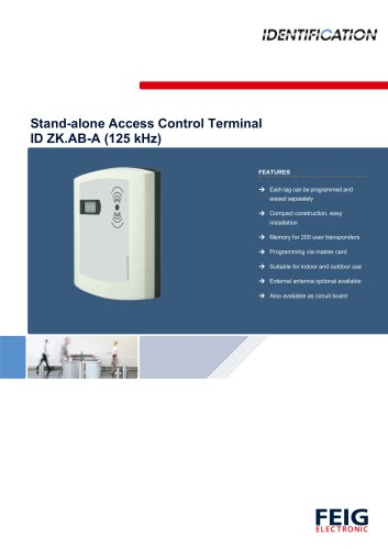 STAND-ALONE ACCESS CONTROL TERMINAL - FEIG ELECTRONIC - PDF