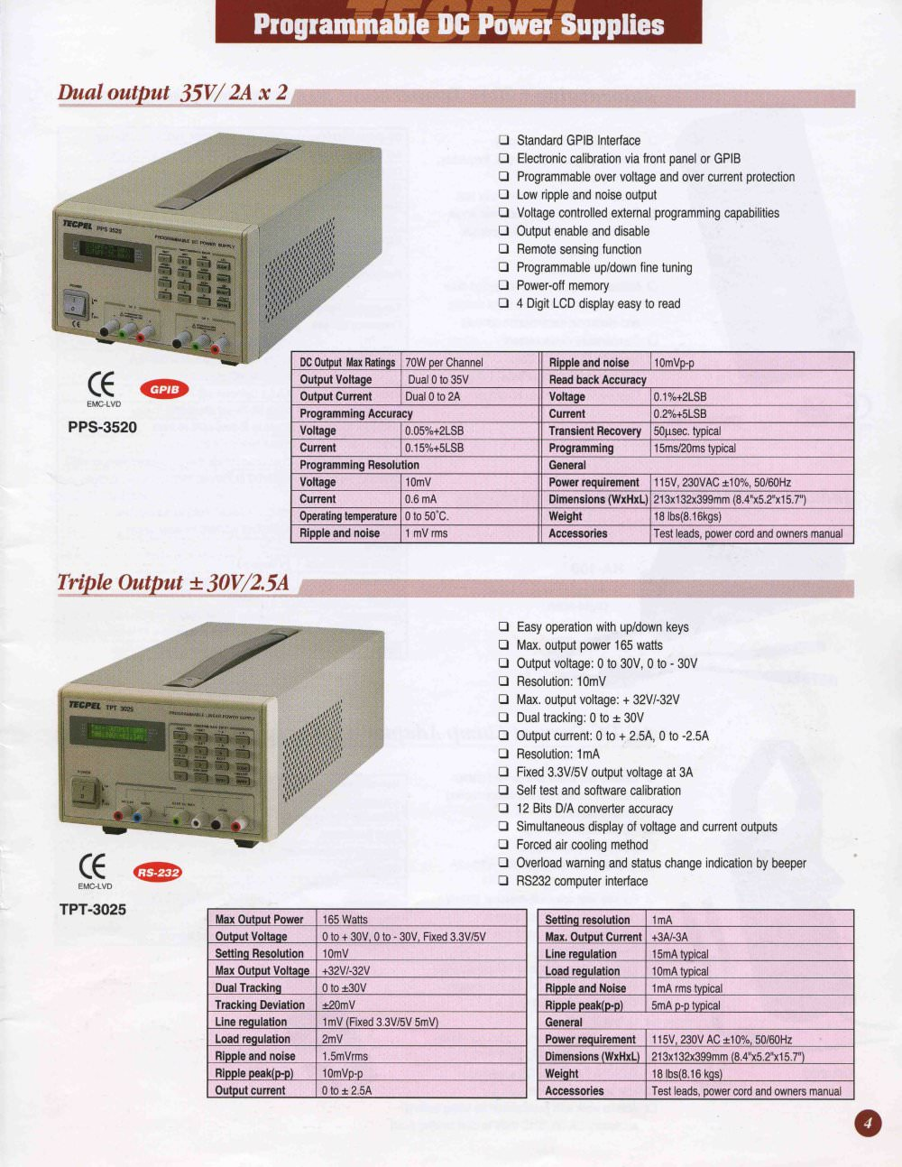 Programmable DC Linear Power Supplies - Tecpel Co , Ltd  - PDF