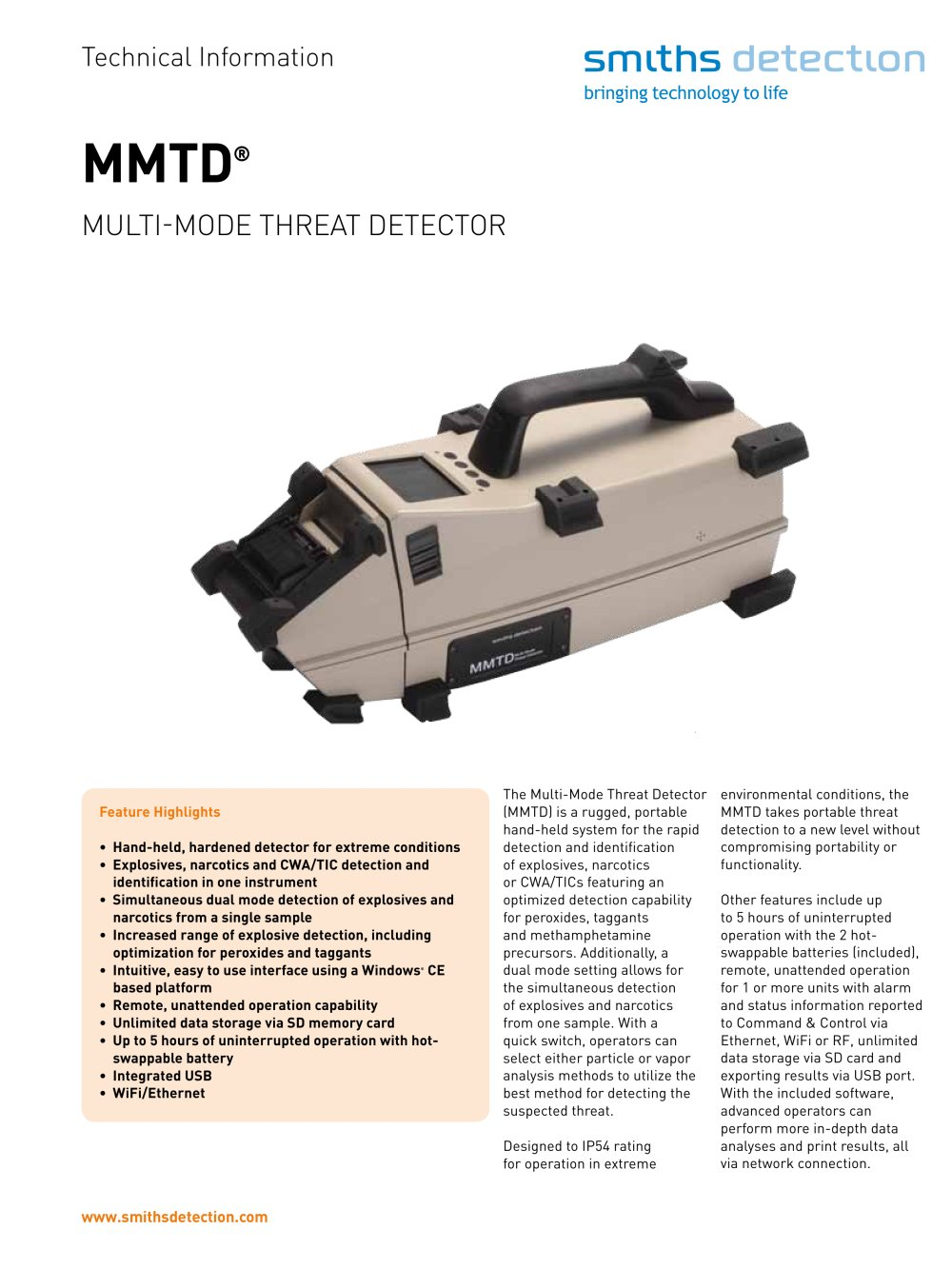 MMTD Multi-mode Threat Detector - 1 / 2 Pages