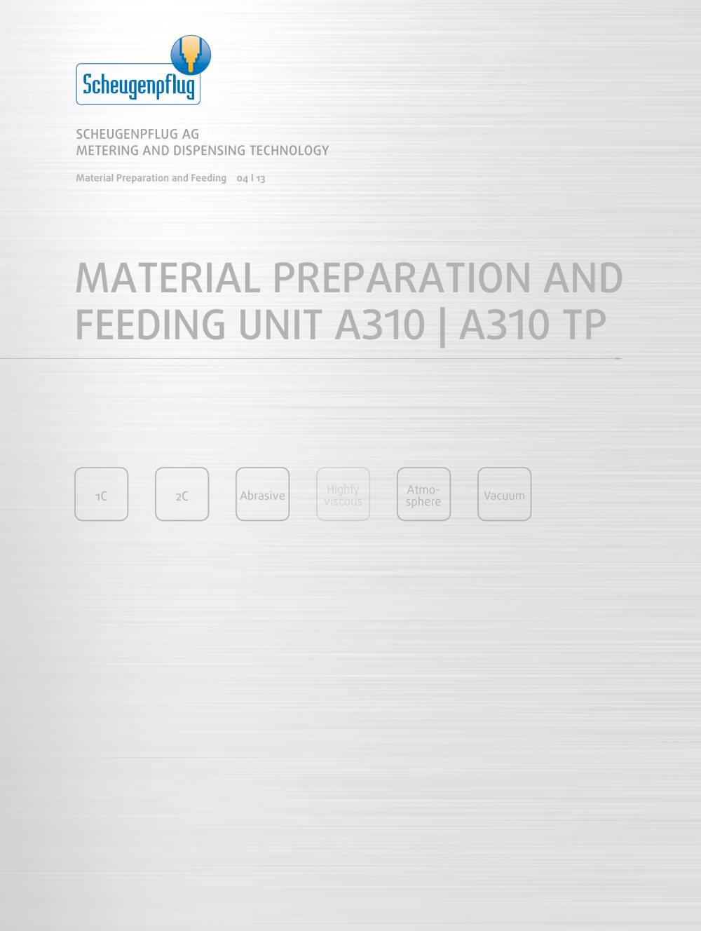 material preparation and feeding unit a310 a310 tp scheugenpflug rh pdf directindustry com WJR III Technical Manual Technical Manual Clip Art