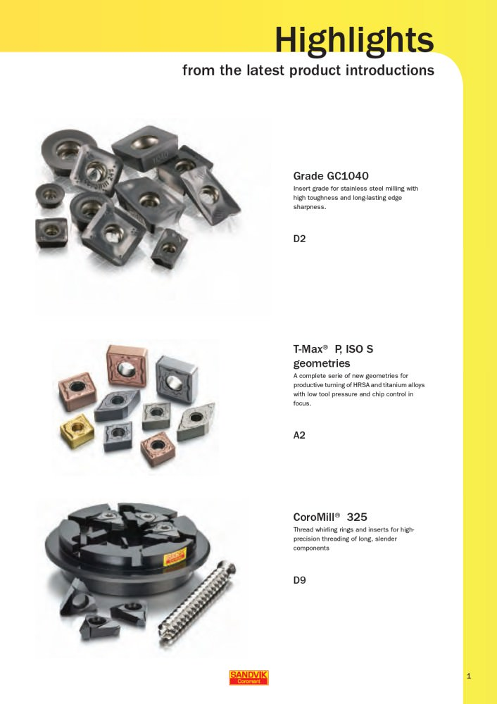 Supplement 10 2 - Sandvik Coromant USA - PDF Catalogs