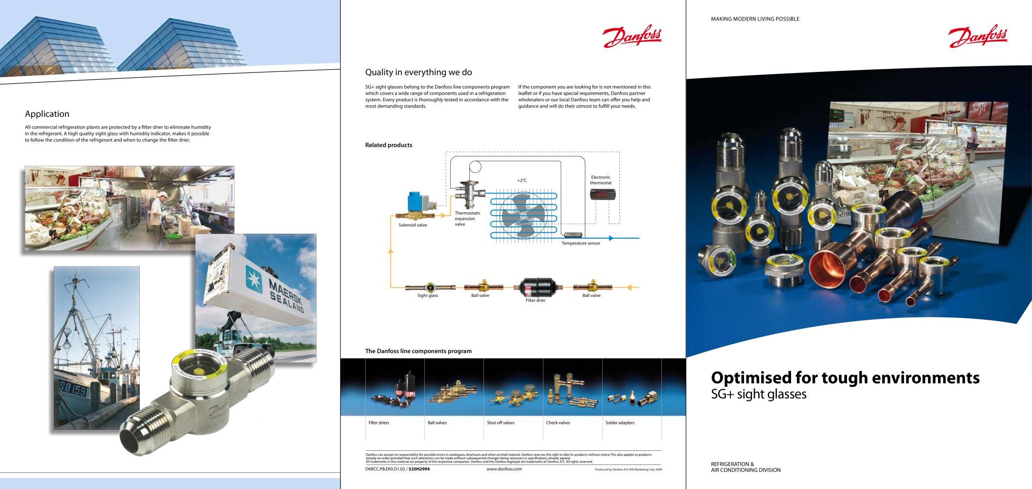 SGN and SGI sales brochure DANFOSS Refrigeration Air – Sales Brochure