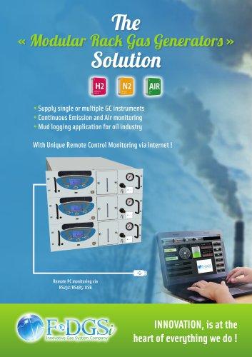 The « Modular Rack Gas Generators » Solution