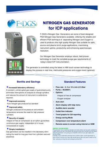 Nitrogen generator for ICP Application
