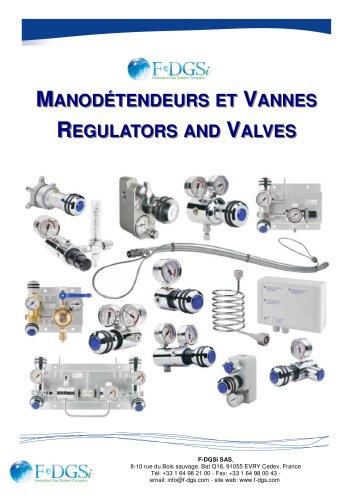 regulator and valves / manodétendeurs et vannes