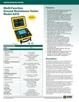6472 Multi-Function Ground Resistance Testers